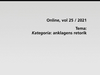 Permalänk till: Temanummer av Rhetorica Scandinavica